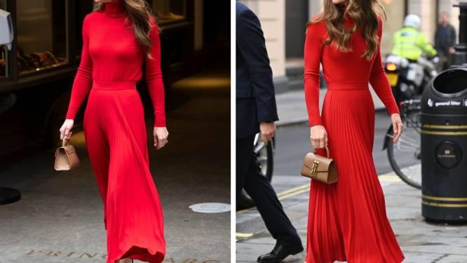 Kate Middleton fait sensation avec une robe d'un rouge flamboyant