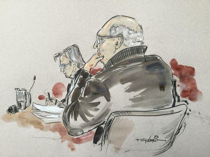 Kerst W. in 2016 in de rechtbank in Zwolle. De Wannepervener probeerde een valse Van Gogh voor echt te slijten. Hij werd in 2016 veroordeeld. Woensdag diende het hoger beroep.