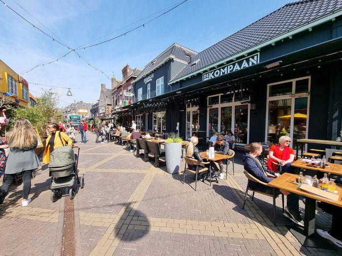 Drukte op de terrassen in Doetinchem.
