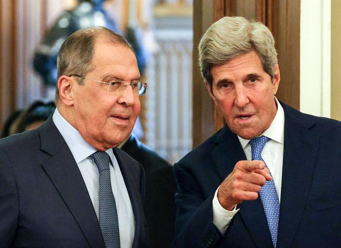 Sergei Lavrov et John Kerry à Moscou ce lundi 12 juillet.