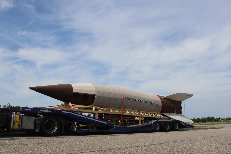 De zadenraket onderweg naar Nederland. Beeld Jos Volkers