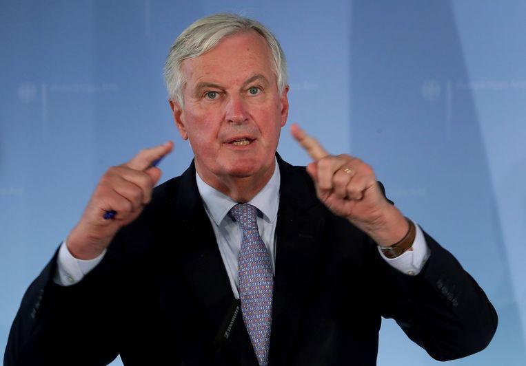 De Europese hoofdonderhandelaar Michael Barnier.