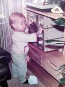 Bart Zeilstra, alias Baas B, op de leeftijd van 1,5 jaar. Foto hoort bij een lied dat hij heeft geschreven (Kind in mij).