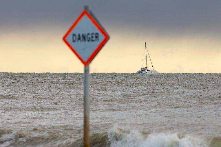 La Vagabonde, het zeilschip met klimaatactiviste Greta Thunberg Beeld REUTERS