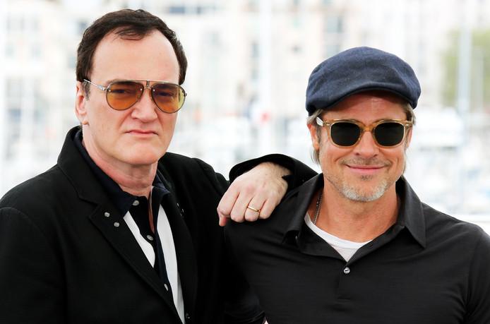Quentin Tarantino et Brad Pitt