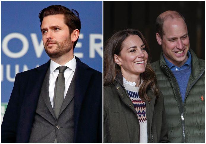 Jason Knauf en prins William met Kate