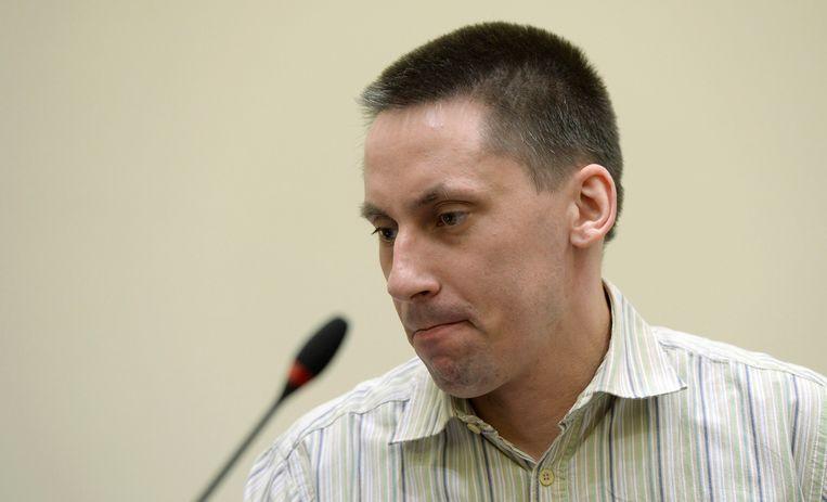 Neonazi Ralf Wohlleben in de rechtszaal. Beeld REUTERS
