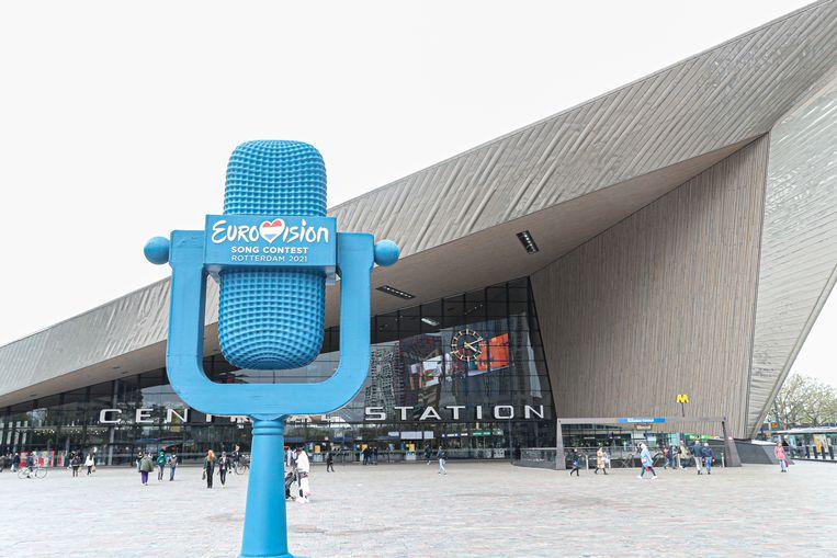 Rotterdam blijft leeg, maar op de aankleding van de stad is niet beknibbeld. Beeld BrunoPress