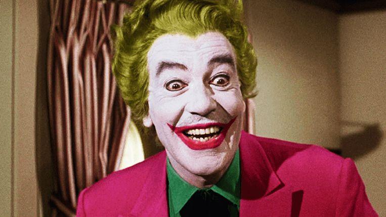 1966-1968: de campy tv-reeks'Batman' verschijnt, acteur Cesar Romero geeft gestalte aan The Joker en geeft hem zijn iconische schaterlach. Beeld rv