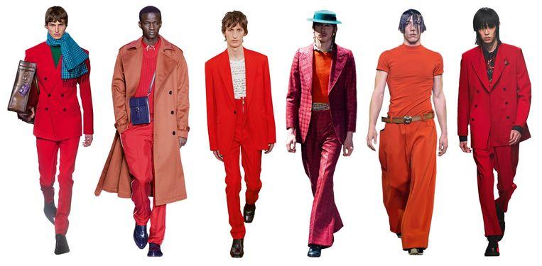 Vanaf links: Berluti, Boss, Givenchy, Gucci, Marni, MSGM. Beeld Imaxtree