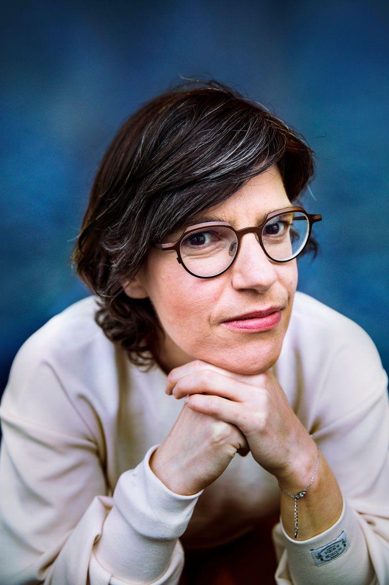Tinne Van der Straeten: 'Als ik echt zou geloven dat ik een kind zou krijgen, kwam ik misschien weer bedrogen uit.' Beeld Aurélie Geurts