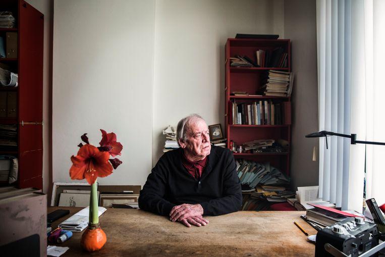 Jeroen Brouwers is de oudste schrijver op de shortlist van de Libris Literatuurprijs. Beeld Aurélie Geurts