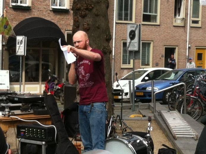 De anti-Wildersdemonstratie op de Ganzenheuvel in volle gang. Foto:DG