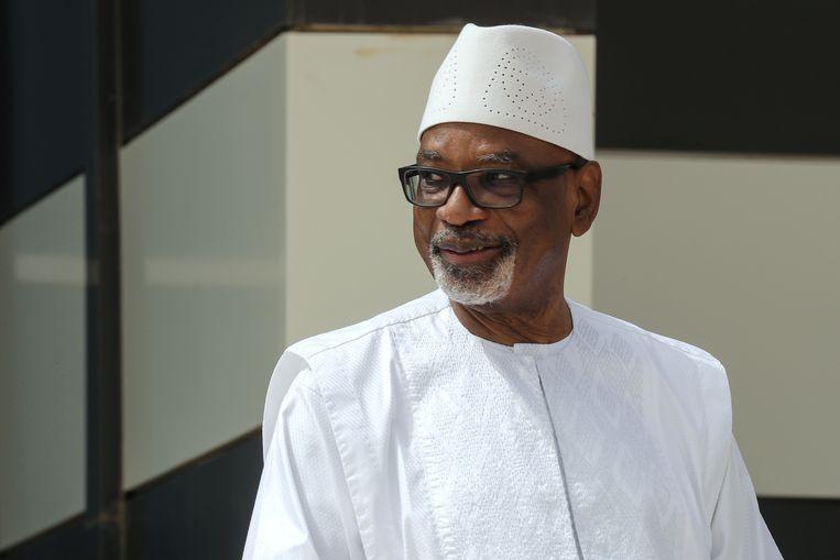 Archiefbeeld. De ex-president van Mali, Ibrahim Boubacar Keïta. (30/06/2020) Beeld REUTERS