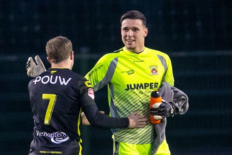 Gorter tijdens Jong Utrecht - Go Ahead Eagles. Beeld Erik Pasman/Pro Shots