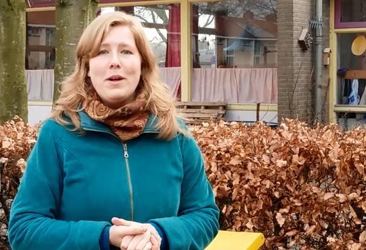 Juf Nina Verkaart van vrije school Zilverlinde in Roosendaal.