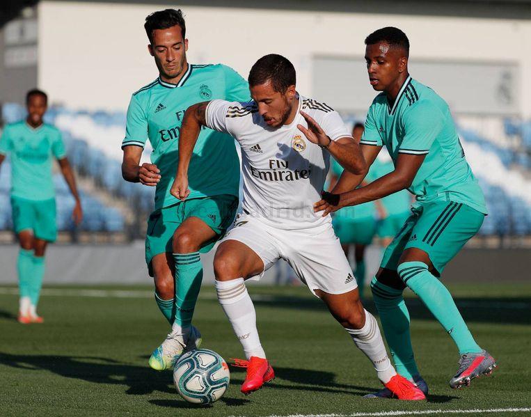 Eden Hazard op training. Beeld Real Madrid