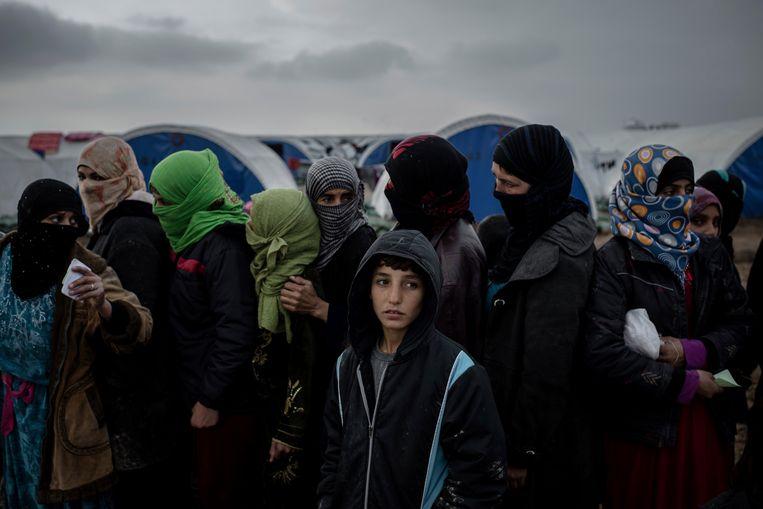Iraakse vluchtelingen in Qayarah. Beeld AP
