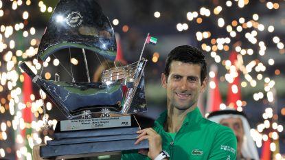Geen vier zonder vijf: Djokovic opnieuw op erelijst in Dubai