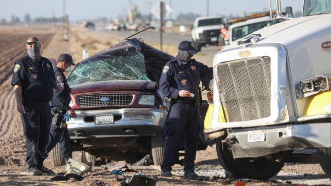 Slachtoffers van zware crash in Californië waren net VS binnengesmokkeld via gat in grens