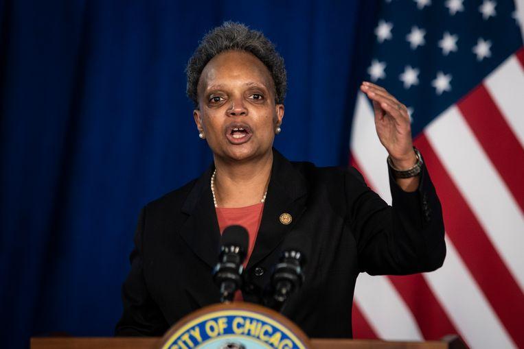 Lori Lightfoot, burgemeester van Chicago. Beeld AP