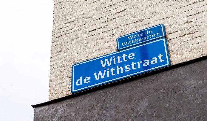 Foto ter illustratie. De Witte de Withstraat is vernoemd naar  vlootvoogd Witte Corneliszoon de With. Rotterdam gaat nieuwe straten voortaan vernoemen naar vrouwen en minderheden.