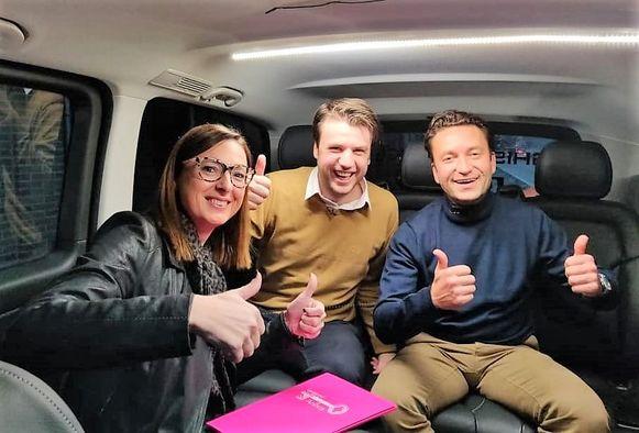 Ignace Vandoorne (rechts) is volgende week in het VIER-programma Huizenjagers te zien