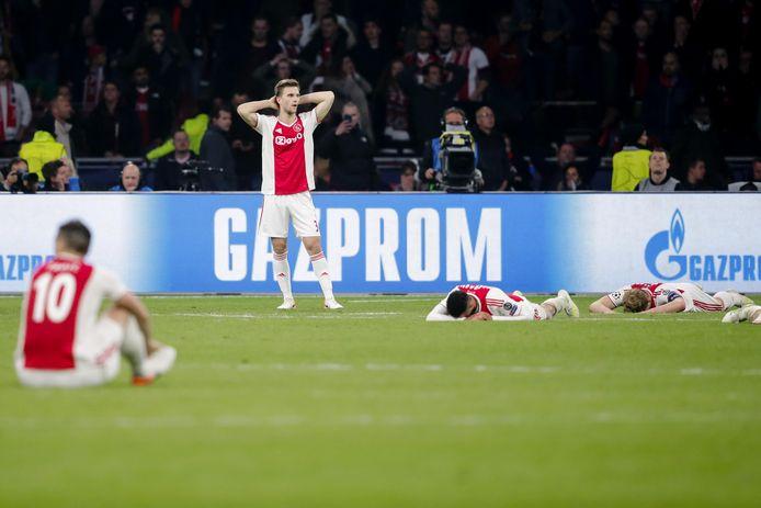 De teleurstelling bij Ajax was gisterenavond groot.
