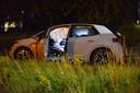 De schade aan twee auto's na een ongeluk in Etten-Leur.