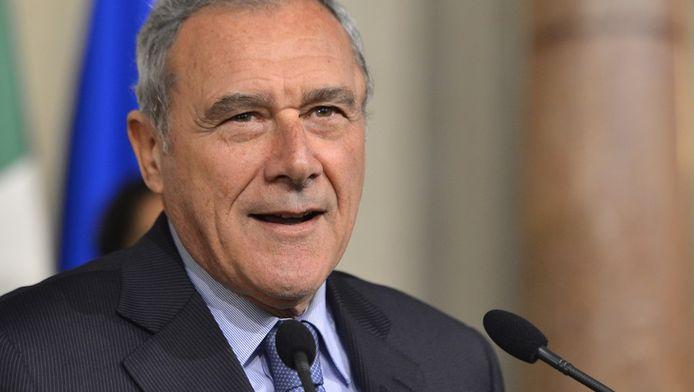 De Italiaanse Senaatsvoorzitter Pietro Grasso.