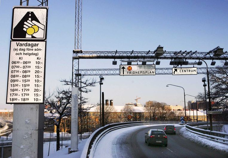 2006: Stockholm voert tolheffing in. Beeld © AFP