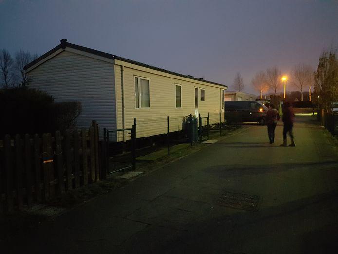 De stacaravan van Dave Bertram op camping Polderpark I in Nieuwpoort. Medebewoners zijn geschokt door het nieuws.