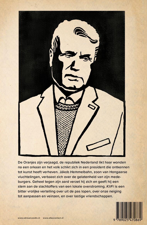 Achterplat van Klifi, met portret van Adriaan van Dis door Floor Rieder. Beeld Atlas Contact