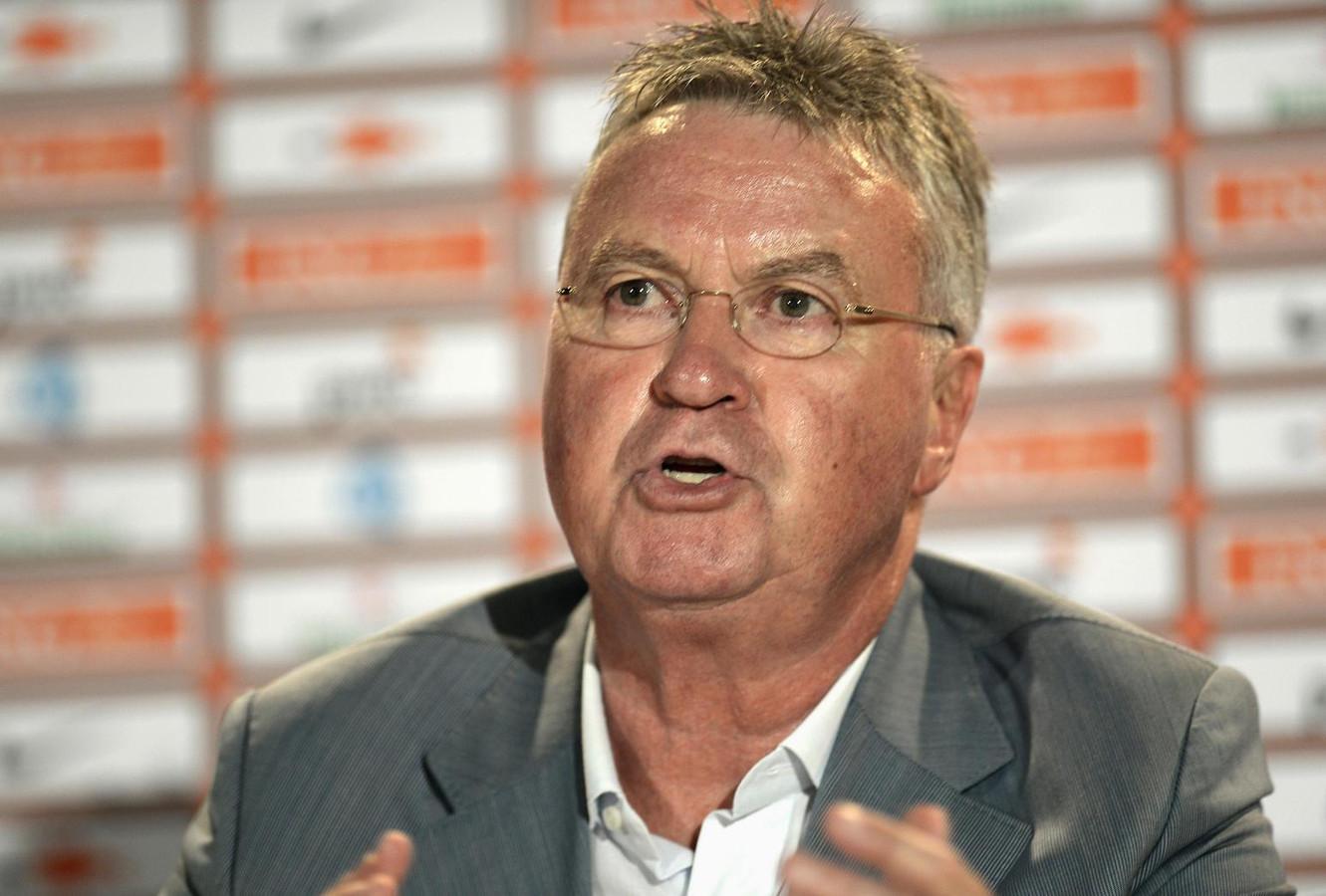 Bondscoach Guus Hiddink.