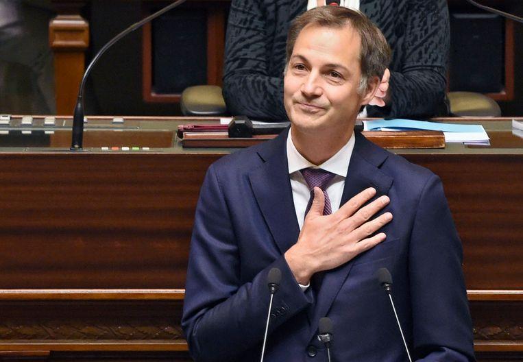 Premier Alexander De Croo in de Kamer. Beeld Photo News