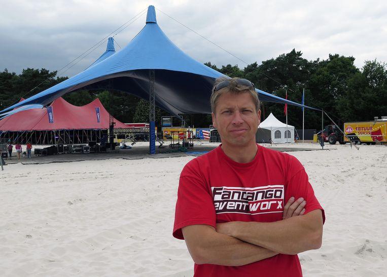 Organisator Nic Keirsmaekers op domein Zilvermeer.