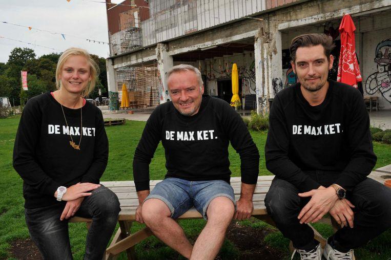Julie Cluydts, Didier Cortois en Sven Mariën van de Kruitfabriek.