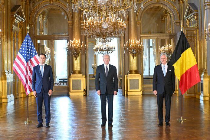 Alexander De Croo, Joe Biden et le roi Philippe