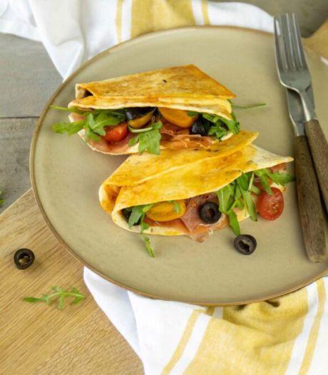 Snel recept: quesadilla met Italiaanse smaken