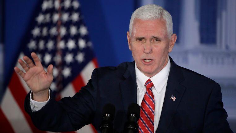 De Amerikaanse vicepresident Mike Pence wordt maandag in Brussel verwacht.