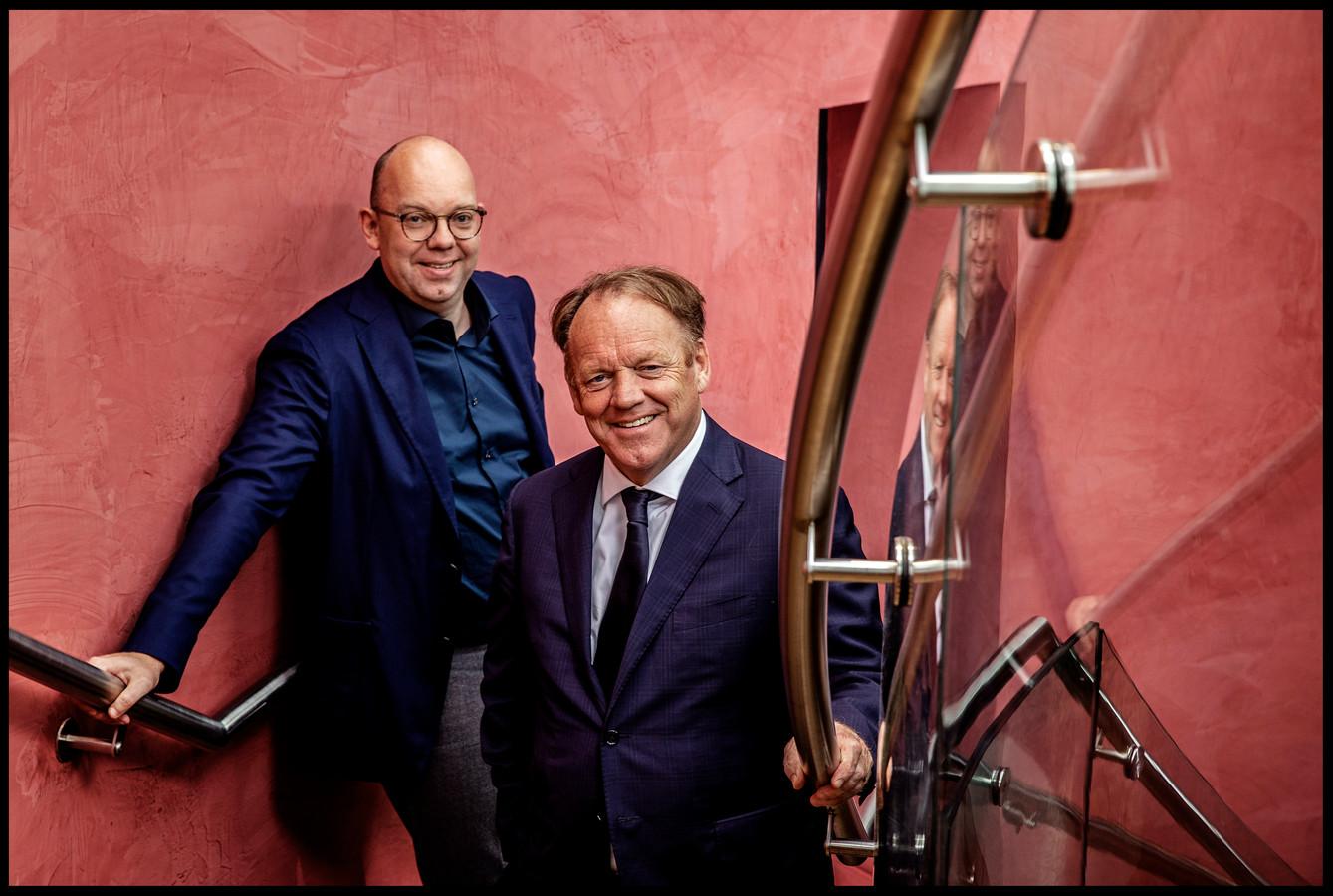 Zoon Stefan (links) en vader Ben Mandemakers.