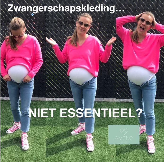 Anneke Lemmens toont dat zwangerschapskleding essentieel is