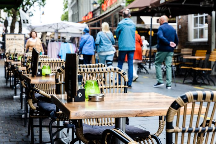 Terrassen in Breda.