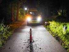 Scooterrijder botst tegen paaltje op fietspad in Geldrop en raakt gewond