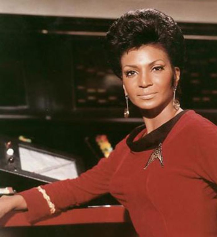Nyota Uhura - Chief Communications Officer van de USS Enterprise Beeld Star Trek