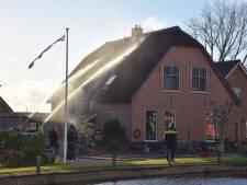Brand bij rieten dak met sisser afgelopen