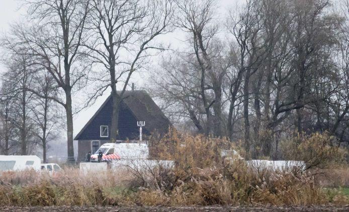 Het vakantiehuisje waar de dubbele moord zich afspeelde.