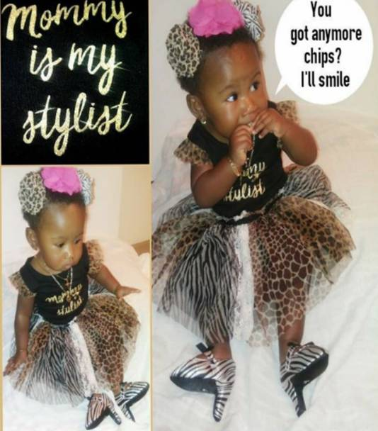 'Mommy is my stylist'