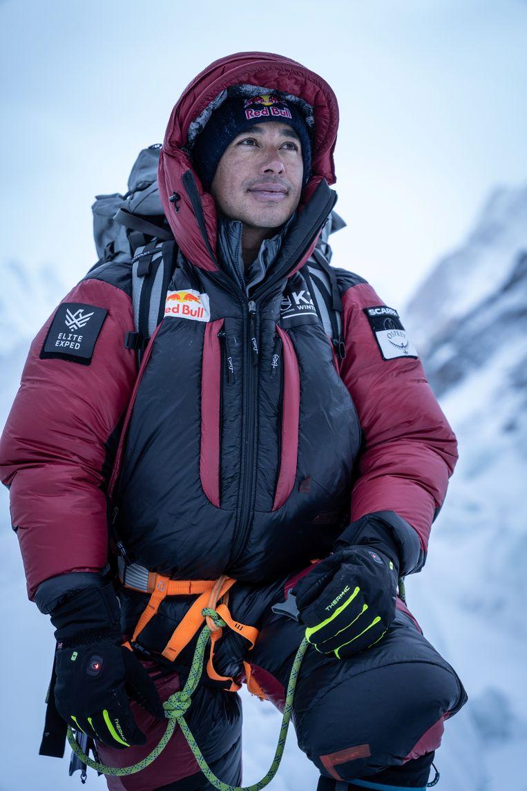 Nirmal Purja bij de start van zijn K2-missie, op 5 januari. Beeld NIMSDAI/RED BULL CONTENT POOL