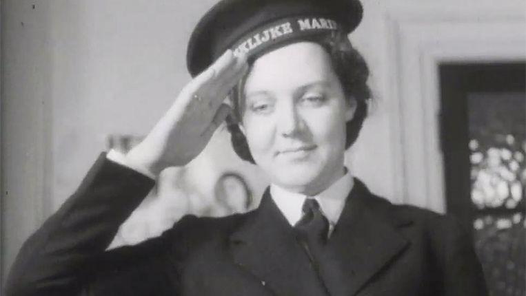 Francien de Zeeuw, de eerste vrouwelijke Nederlandse militair. Zij zat bij de Koninklijke Marine. Beeld NPO